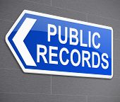 stock photo of deed  - Illustration depicting a sign with a public records concept - JPG