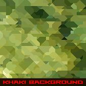 stock photo of khakis  - Khaki background with protection color geometric stains - JPG