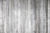 picture of formwork  - Gray concrete wall with wooden formwork pattern - JPG