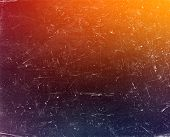 stock photo of scratch  - Old grunge gradient colorful background with scratches - JPG