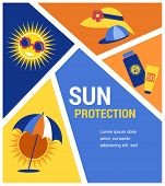 picture of sun tan lotion  - sun protection at summer time - JPG