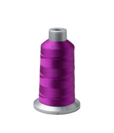 image of rayon  - Bobbin of purple thread isolated on white background - JPG