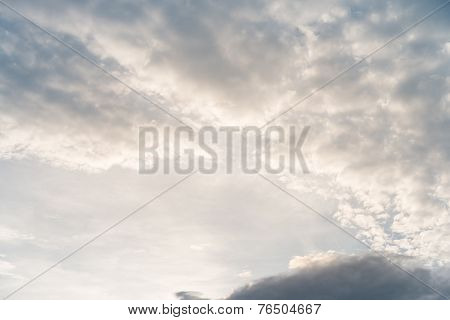 Sunlight With Cloudy Sky