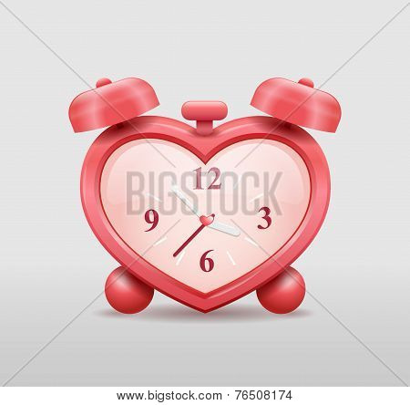 Alarm Clock In Heart Shape