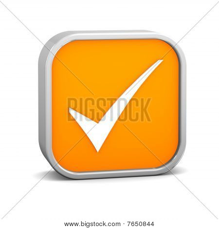 Orange Tick Sign