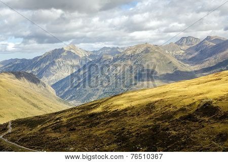 Green Landscape At Vall D Incles In Andorra