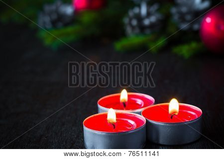 Christmas Tree Candle Wooden Christmas