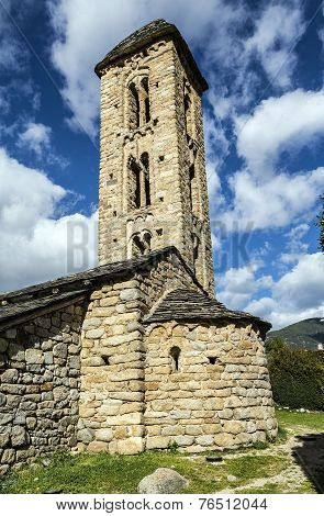 Romanesque Church Sant Miquel D Engolasters, Andorra