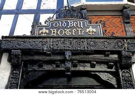 Old Bell Hotel detail, Derby