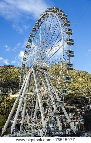 Ferris Wheel At Andorra La Vella Andorra