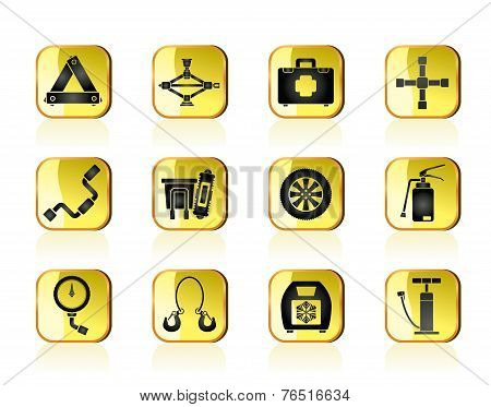 car and transportation equipment icons