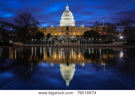 Capitol Building at night - Washington DC, United States of America