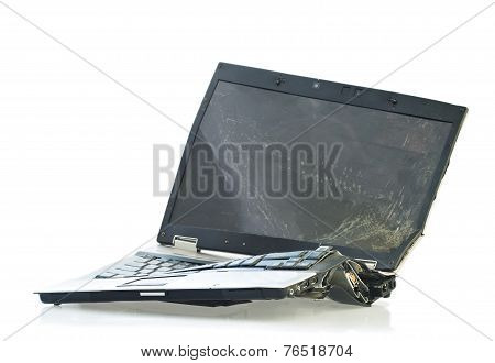 Broken Laptop Computer
