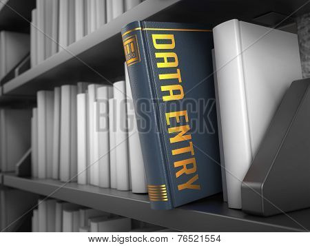 Data Entry - Title of Book.