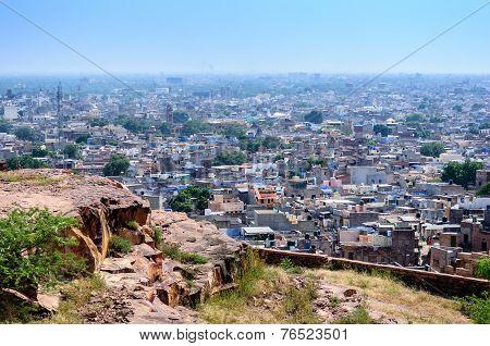 Jodhpur, The Blue City As Seen From Jaswant Thada