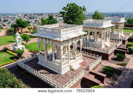 Marble Cenotaphs Of Marwar Kings