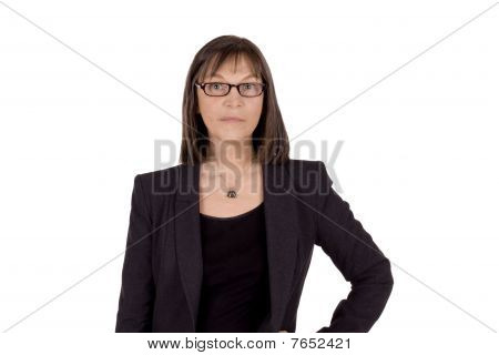 Serious Senior Business Woman