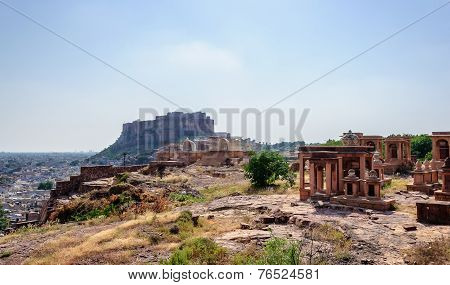 Mehrangarh Fort As Seen From Jaswant Thada
