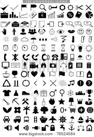 150 universal icons