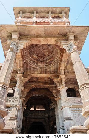 Ancient Rock Curved Temples Of Hindu Gods And Godess