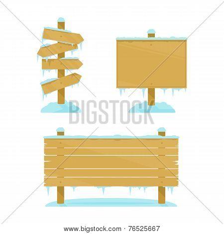 Winter Wooden Boards