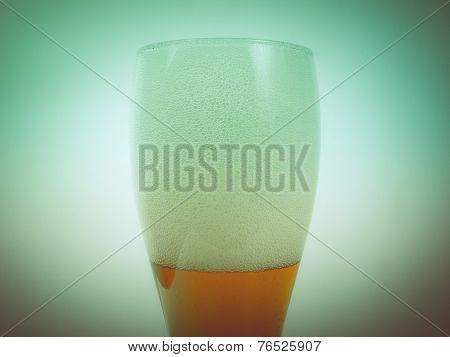 Retro Look Weizen Beer