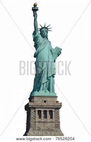 Isolated Liberty Statue