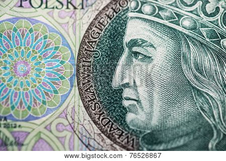 Polish money. Banknotes from Poland