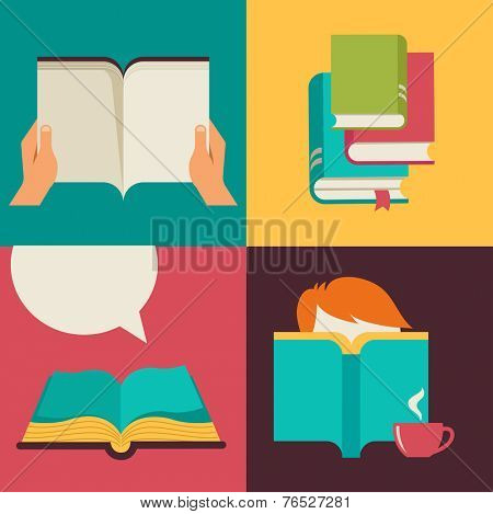 Book and reading concept design backgrounds