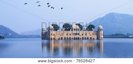Palace In Water - Jal Mahal, Rajasthan, India
