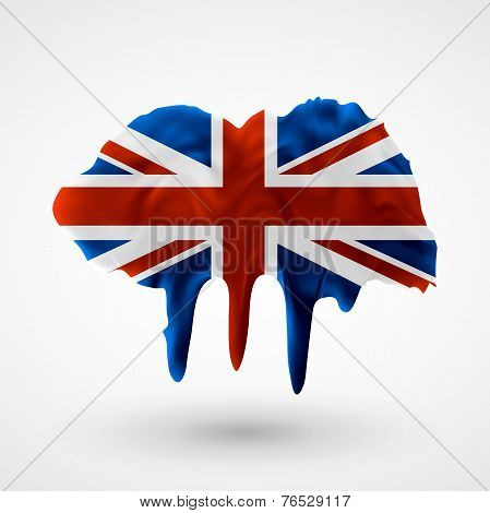 UK flag painted colors