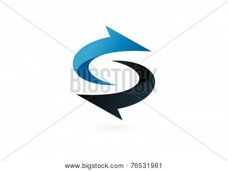 business arrow logo design,