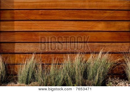 Brown wood fence