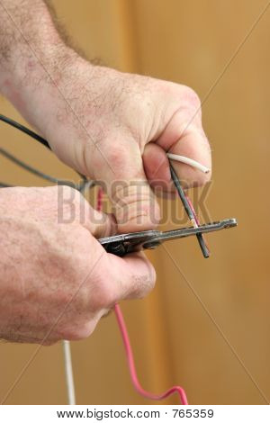 Stripping Electricial Wire