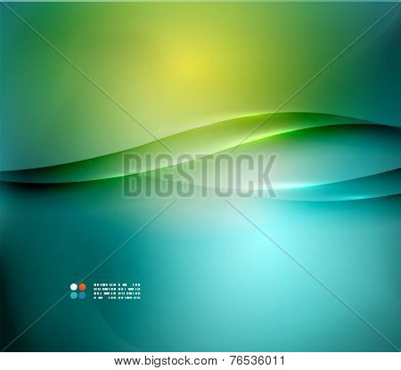 Hi-tech or business futuristic blurred template, blue yellow colors