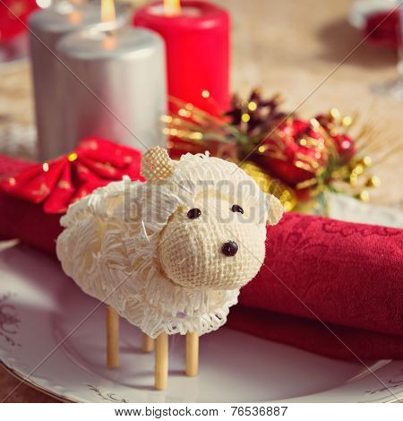Ewe on New Year's table