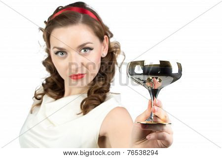 Image of woman with metal snifter