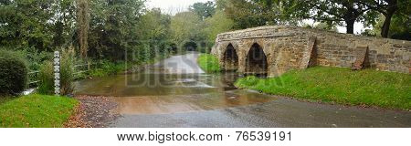 Sutton Splash and Historic Packhorse Bridge