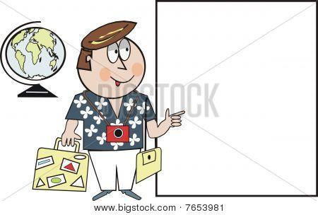 Tourist travel cartoon