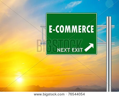 E-commerce Green Road Sign