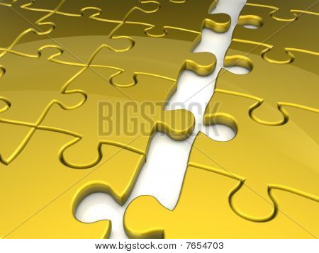 Joining Puzzle Business Concept
