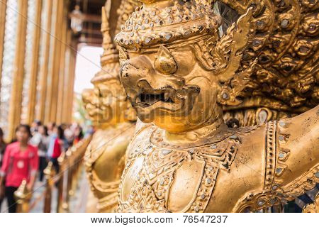 Golden Garuda Of Wat Phra Kaew At Bangkok, Thailand