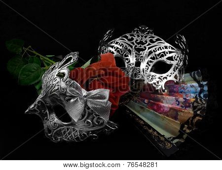 Masks with rose.