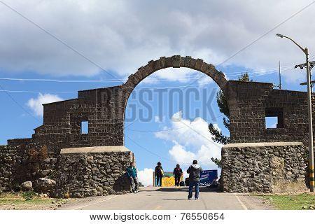 Arch on Border Between Yunguyo (Peru) and Kasani (Bolivia)