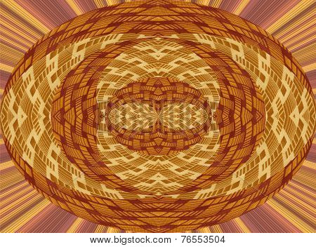 abstract design with brown fabric pieces