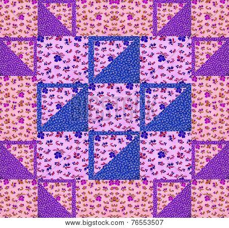 Colorful arrangement with cotton scraps to make a quilt