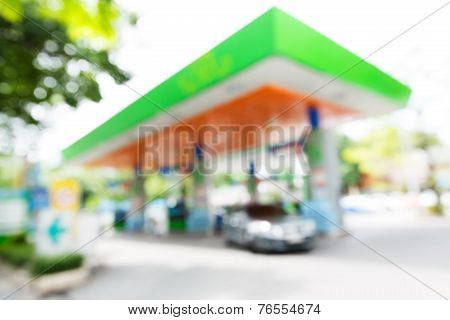 Blurry Gas Station