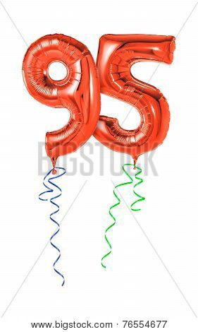 Red balloons with ribbon - Number 95