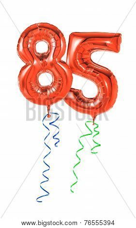 Red balloons with ribbon - Number 85