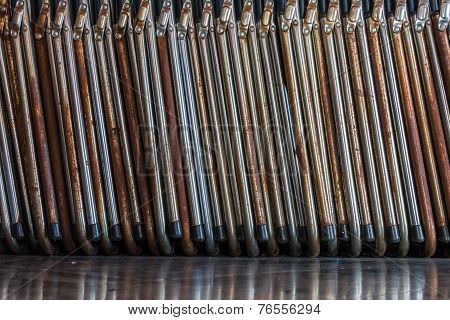 Old Folding Chair On Texture And Background
